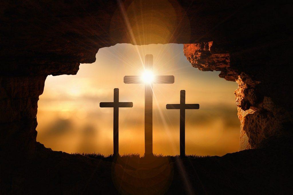 resurrection, crosses, crucifixion